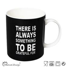 Black Color with Words Printing Straight Coffee Mug