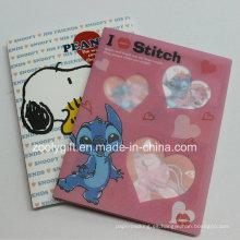 """Dibujos animados de plástico impreso PP / PVC 4X6 """"Álbumes de fotos con caja de plástico transparente"""