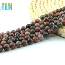 Rare Natural Black Line Pink Rhodonite, Rhodonite Jasper DIY Jewelry Beads , L-0143