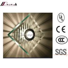 Modern Hotel Decorative Metal Glass Shade Steel Wall Light