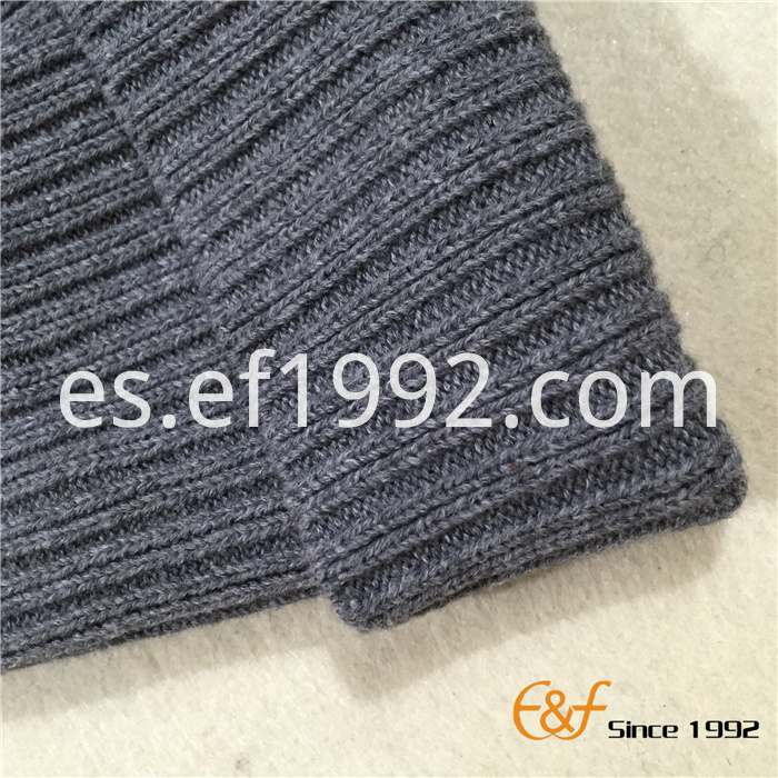 ribbed knitted pattern beanie hat