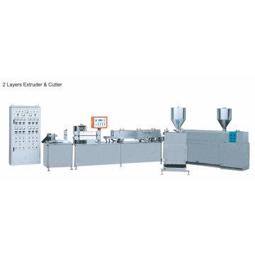 Zwei Layer Extruder & Cutter für PE Tube
