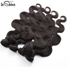 Cabelo não processado de venda quente do brasileiro do Virgin da categoria 8A da onda do corpo do cabelo de Leshine