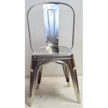 Industrial Metal Chrome Nickel Plated Chair
