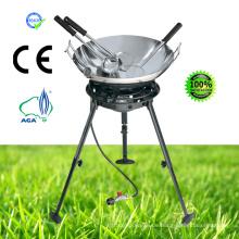 Gasherd mit Carbon Wok Kit Löffel, Skimmer, Spatel