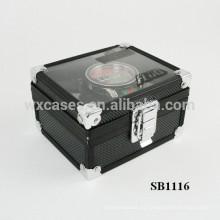 caja de reloj solo de aluminio de lujo con un claro espectáculo top