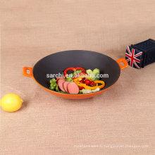 Cuisinières à induction en fonte émaillée wok