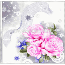 low price printed flower polyester wholesale fabric