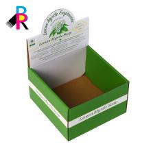caja de empaquetado de visualización de cartón plegable personalizada a todo color