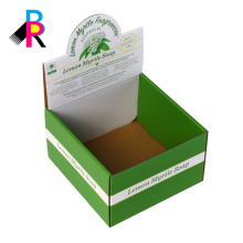 full color printing customized folding cardboard display packaging box