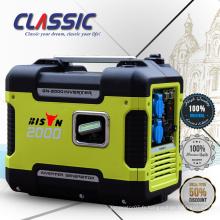 New Design 4.0 L Portable 2KW Inverter Generator Générateur d'essence 2000i pour l'usage domestique supporte le générateur d'essence silencieux