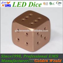 MCU Steuerung bunte LED Vergoldung Würfel