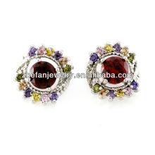 Rubi brincos de pedra do parafuso prisioneiro brincos moda jóias turcas