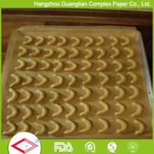 Forros não tecidos de Pan do forno do papel de cozimento do silicone de Brown * 400 * 600mm