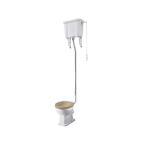 High Lever flush pipe kits para banheiro com material de latão popular no Reino Unido