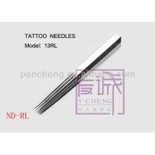 En agujas de la barra / del trazador de líneas redondas, agujas estériles del tatuaje del paquete 50 pre-hechas
