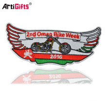 Artigifts promotion Latest Computer Embroidery Designs Clothing Patches Custom self-adhesive embroidery patch
