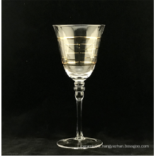 Wine Glass With Real Gold Decal