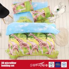 Funda de almohada grande impresa 3D de la jirafa de la microfibra