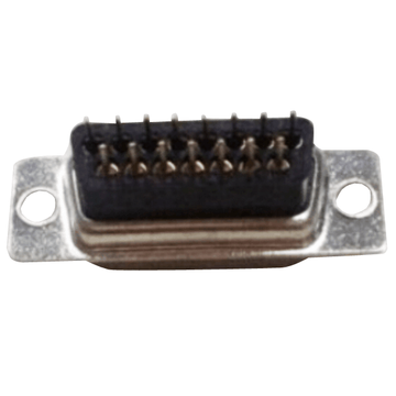 D-SUB male connector staight high profile dip-type