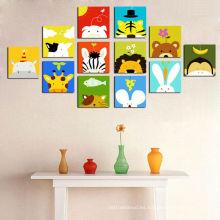 Cuadros de dibujos animados en lienzo para niños