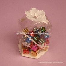 Embalagem clara personalizada da caixa plástica (caixa do doce dos PP)
