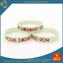 Bracelet en silicone de qualité supérieure pour anniversaire blanc (LN-037)