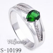 925 prata esterlina verde zircônia mulheres anel (s-10199)