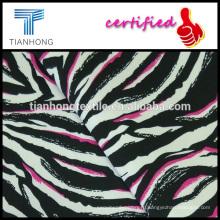 зебра дизайн ткани хлопок спандекс саржевого эластана напечатаны эластичной ткани для тощих брюки