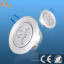 3W Aluminium Recessed LED Downlight / Ceiling Light