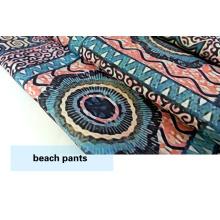 Diseño nuevo poliester tela impresa para cortocircuitos de la playa / Casual vestir