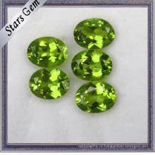 Овальная форма Shine Natural Peridot Stones