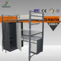 double decker metal triple bunk bed