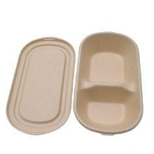 biodegradable sugarcane food tray disposable eco bio degradable salad bowl with compartment