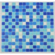 Piscine d'hôtel en acier inoxydable classique en mosaïque en mosaïque mixte bleu marine