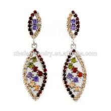 dernière mode or boucles d'oreilles modèles bijoux fantaisie italien bijoux plaqué rhodium est votre bonne sélection