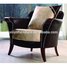 High quality leather and fabric arm sofa chair for sale XYD229