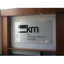 Signe de réception acrylique personnalisé à l'intérieur (ID-09)