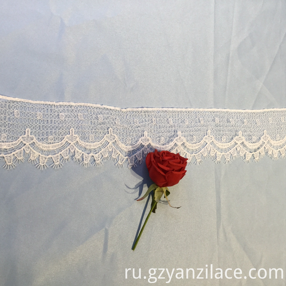 White Ribbon Bulk Lace Trim by Yard