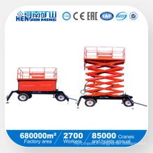 Plate-forme de travail à ciseaux hydrauliques mobiles à bon prix
