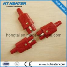 Plugue de alta temperatura de silicone vermelho