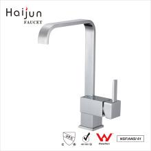 Haijun Factory Venda direta de luxo Válvula de cerâmica quadrada Torneiras de pia para cozinha