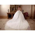 LL060 роскошные бисероплетение 2017 свадебные платья бальное платье аппликации кружева одеяние де mariage тюль vestido де noiva принцесса свадебные платья