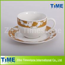 Фарфоровый классический кофейно-чайный сервиз