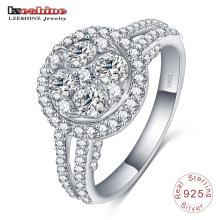925 Bague en argent italien bague de bijoux de mariage de pierres précieuses (SRI0018-B)