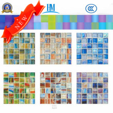 Small Size Thickness 4mm Glass Mosaic/Colored/Swimming Pool/TV Wall/ Glass Mosaic