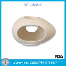 Big Holes Egg Shaped Ceramic Oil Burner
