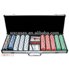New arrival strong aluminum case 500 poker chips