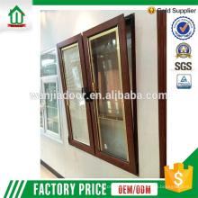 Wanjia usine pvc plastique vert teinté conception de la fenêtre en verre
