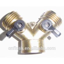 Zinc metal casting y garden water hose valve